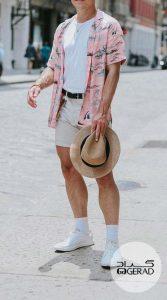 استایل تابستانی صورتی مردانه گراد