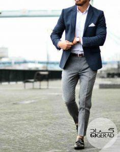شلوار مردانه خاکستری گراد